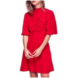 Free People Be My Baby Red Mini A-Line Dress